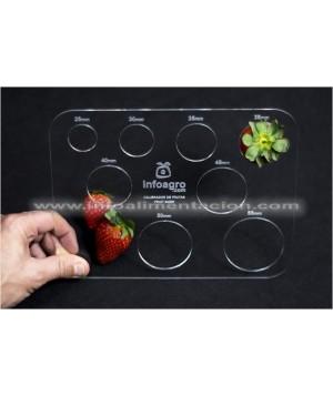 Calibre de fruta pequeña y fresas. De 25 a 55 mm de diámetro. IA-CALFRES