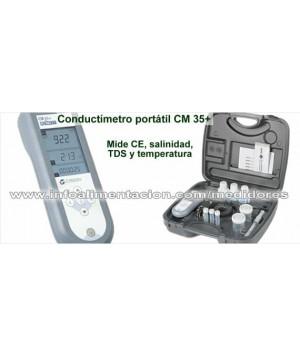 Medidor profesional de CE, TDS, temperatura y salinidad. Crison CM 35+