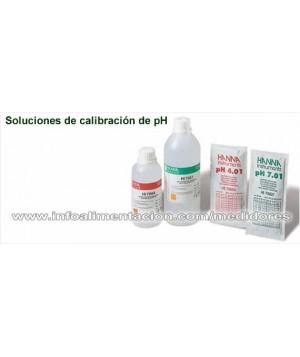 Solución de calibración certificada de pH 4.01 @ 25°C. HI70004C