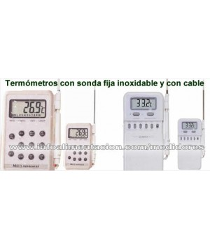 Termómetro digital con sonda inoxidable y cable. Modelo HT-SA880SSX