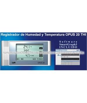 Registrador de humedad y temperatura. SC-OPUS 20 THI