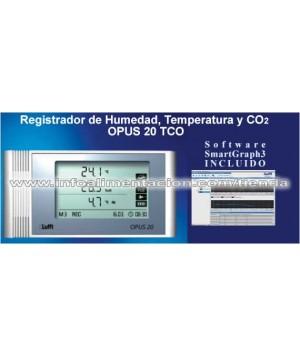 Registrador de humedad, temperatura y dióxido de carbono. SC-OPUS 20 TCO